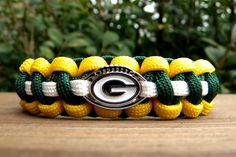 Green Bay Packers Team Paracord Bracelet with an Officially Licensed NFL Charm. $16.50, via Etsy.