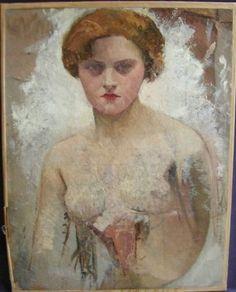 Portrait Etude Belle Jeune Femme Huile Xixème Siècle PAR Detailleur | eBay