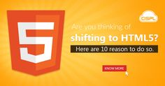 HTML5 gives you many commendable features. Here are our top 10 reasons why you should shift to HTML5, increasing the accessibility and interaction of your website. #HTML5 #Advantages #CodeClouds