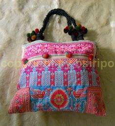 Ethnic Hmong Embroidered Handbags Tote Bag Vintage by bsiripo, $23.00