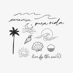 Beachy Tattoos, Boho Tattoos, Dainty Tattoos, Mini Tattoos, Unique Tattoos, Beach Henna Tattoos, Tatoos, Simplistic Tattoos, Cute Little Tattoos