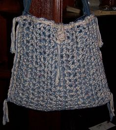 Denim & Crochet Handbags/Purses. $47.00, via Etsy.
