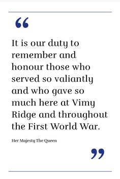 Vimy100 04/09/2017 Her Majesty The Queen, O Canada, Im Not Okay, First World