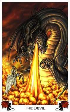 Dragon Tarot - The Devil by *alecan on deviantART
