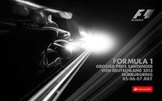 887GP - FORMULA 1 GROSSER PREIS SANTANDER VON DEUTSCHLAND 2013 POSTER