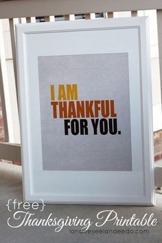 Thankful For You Printable - Landee See Landee Do