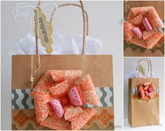 paper flowers decorate gift bags | With a little creativity, who knew that you can create a flower with a ...