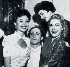 Steve, above with Mitzi Gaynor (left), Kathleen Case (centre) and Lori Nelson (right), is the great-nephew of MGM founder Louis B Mayer and son of Roy Rowland who directed films such as Meet Me in Las Vegas