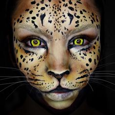 """Leopard Wearing my @ohmykittydotcom contacts! """