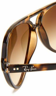 Amazon.com: Ray-Ban RB4125 Cats 5000 Sunglasses 59 mm,Tortoise/Brown