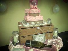 Coconut Cream rustic wedding cake