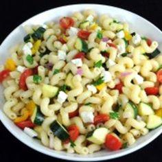 Pasta Salad with Tomatoes, Zucchini, and Feta Recipe