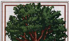 Schemi a punto croce gratuiti per tutti: Schema - quattro stagioni - a punto croce