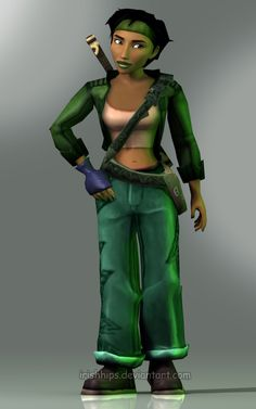 Beyond Good and Evil: Jade by Irishhips on DeviantArt Beyond Good And Evil, Video Game Characters, Fictional Characters, 3d Max, Costumes, Costume Ideas, Cute Girls, Video Games, Marvel