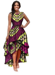 African  Traditional Clothing dress for woman african Dashiki #Unbranded #AsymmetricalHem #Formal