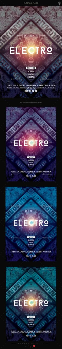 Electro Sound - Flyer Flyers and Electro - electro flyer