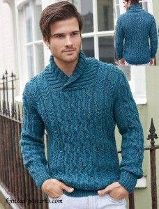 bb920dc2a08e Knitting Pattern to make men s Aran Sweater - Fits 32 to 54 inch chest  Needles required and Perfect for Fall or Winter weather No reselling of  pattern ...
