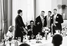Wedding speeches, father of the bride, brothers and groom singing to the bride!