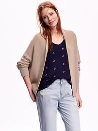 """May we recommend this """"Textured Open-Front Cardigan""""! With 60% cotton, it is unbelievably soft and comfortable. This cardigan can be paired with any tops, and be dress up or down."""