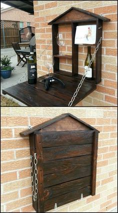 Murphy Bar from Repurposed Pallets by Lake Highlands Pallet Creations Take a tour of their creation by viewing the full album at http://theownerbuildernetwork.co/xifm Feeling inspired?