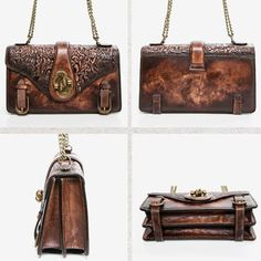 Overview:   Design: Genuine Leather vintage handmade shoulder bag crossbody bag handbag  In Stock:  3-5 days to process orders  Include: Only Shoulder Bag Custom: None Material: Cowhide Measures: L 24cm x H 13cm x T8cm Slots: 1 zip main slot, 1 inner slot, 1 zip inner slot Style: Genuine Leather vintage handmade shoul Leather Crossbody Bag, Leather Handbags, Crossbody Bags, Womens Designer Bags, Leather Shoulder Bag, Shoulder Bags, Custom Bags, Bucket Bag, Purses And Bags