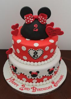 Birthday cake for 2 year old Stevani.