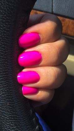 """Hot pink nails! - China Glaze """"Are you Jelly?"""" #1219"""