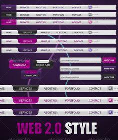 Web 2.0 Elements by Arbaoui Mehdi