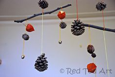 Kids Crafts: Autumn Mobile - Red Ted Art's Blog