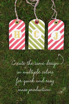 Stamp Away With Me: Festive Friday Challenge - Red, Green & Gold   Christmas Gift Tags