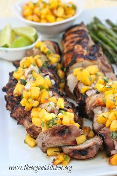 I marinate these pork tenderloins overnight in a combination of olive oil, lime juice and spicy brown mustard. The marinade creates a tender flavorful meat. Combine it with the amazing peach salsa for a flavorful, delicious meal.