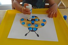 Preschool insect unit activities - Insect Do-A-Dot printables || Gift of Curiosity