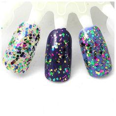 Babes in Toyland - Green, Fuschia, Blue, Gold Glitter Winter Nail Polish (LIMITED EDITION). $10.00, via Etsy.