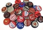 Vintage Bottle Caps -Red White & Blue Mix