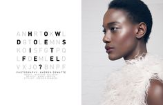 Bare eyes, strong blush and lips, FFW Mag Mariane Calazan