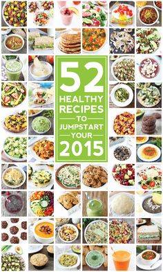 52 Healthy Recipes on twopeasandtheirpod.com Healthy recipes from breakfast to dessert! Bookmark this one! I love ALL of these recipes!