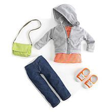 Journey Girls 18 inch Doll Fashion Outfit - Jeans with Gray Hooded Sweatshirt
