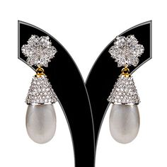 Silver Color Stone Studded Earring
