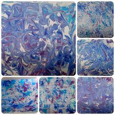 Peindre avec de la mousse à raser - Techniques de peinture - lesptitsbricoleurss jimdo page!                                                                                                                                                                                 Plus