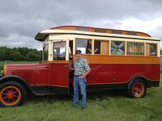 A 1928 REO Speedwagon converted into a vintage home on wheels in Edgeley, North Dakota by Don Paul.