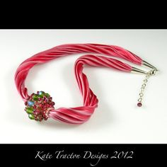 Beaded Bead Necklace by Kate Tracton Designs
