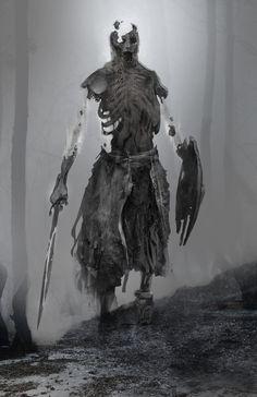 Draugr Early Concept Art 4 - God of War Art Gallery Monster Concept Art, Fantasy Monster, Monster Art, High Fantasy, Dark Fantasy Art, Fantasy Artwork, Creature Concept Art, Creature Design, Arte Horror