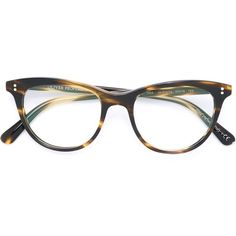 Oliver Peoples Jardinette Glasses ($314) ❤ liked on Polyvore featuring accessories, eyewear, eyeglasses, brown, oliver peoples eyewear, brown glasses, oliver peoples, oliver peoples eye glasses and oliver peoples glasses