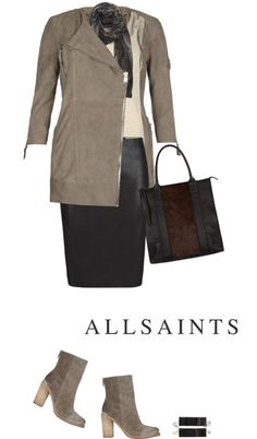 """ALLSAINTS"" by fashionmonkey1 ❤ liked on Polyvore"