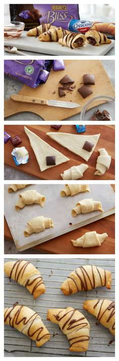 How-to for chocolate-stuffed crescent rolls!