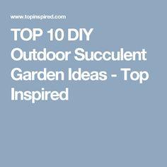 TOP 10 DIY Outdoor Succulent Garden Ideas - Top Inspired