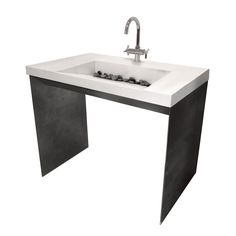 ADA Compliant Sink & Steel Base - Trueform Concrete