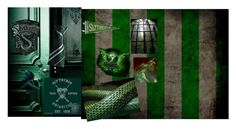 """Slytherin moodboard"" by olivia-kjellberg-persson on Polyvore featuring art"