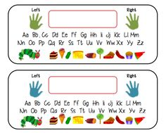 Desk Name Tags A Range Of Cute For Your Students Including One With Very Hungry Caterpillar Theme