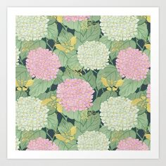 Hydrangeas+and+Butterflies+-+Such+A+Perfect+Summer+Day+Art+Print+by+Paula+Belle+Flores+-+$18.00